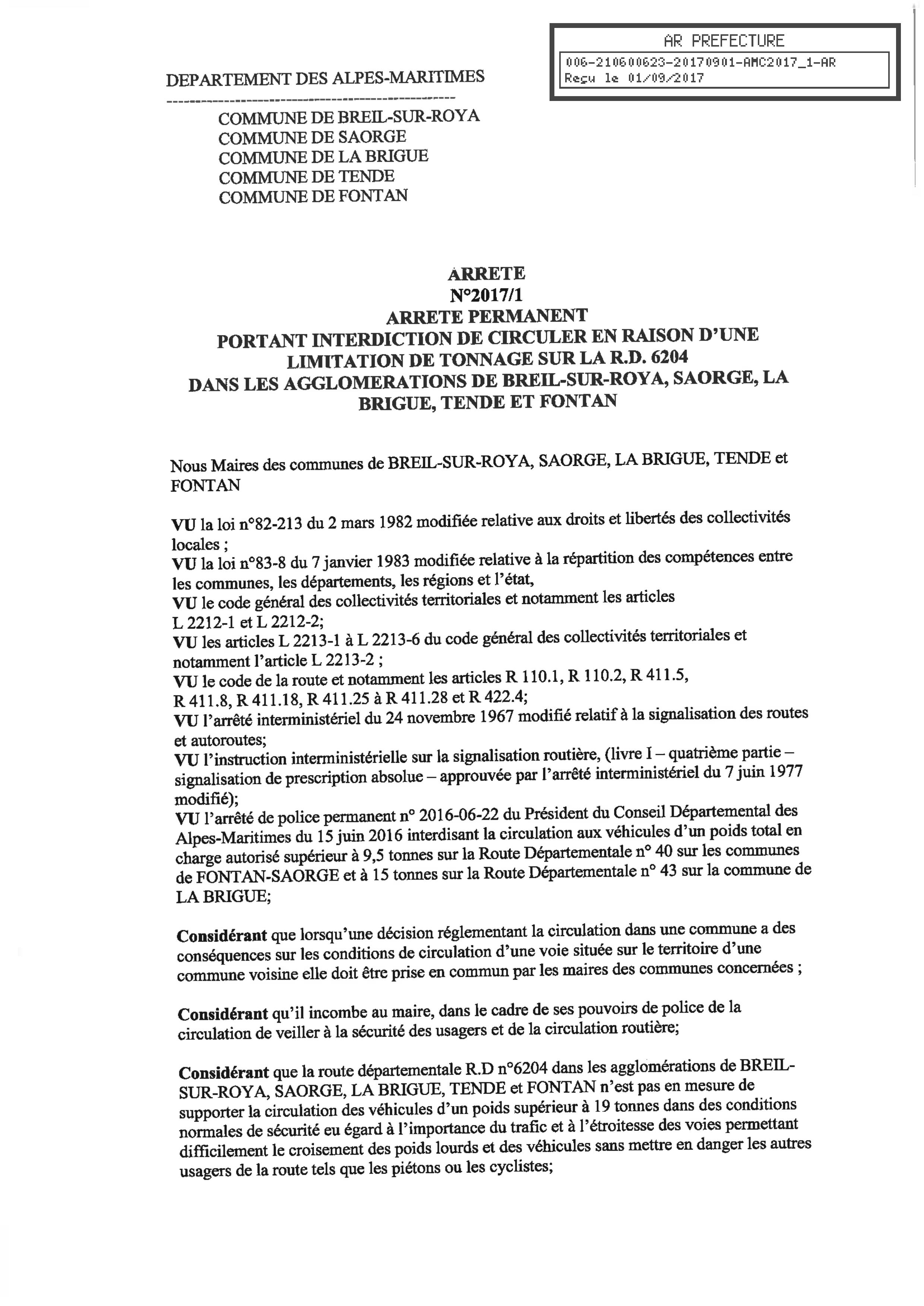 ARRETE-INTERDICTION-CIRCULATION-LIMITATION-TONNAGE-RD6204-AGGLO-BREIL-SAORGE-LA-BRIGUE-TENDE-FONTAN-page1